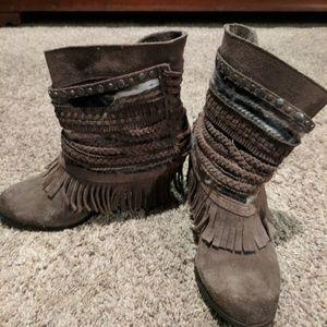 Naughty Monkey Fringe boots